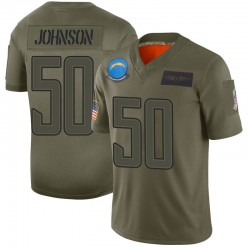 Limited Tre'Von Johnson Men's Los Angeles Chargers Camo 2019 Salute to Service Jersey - Nike