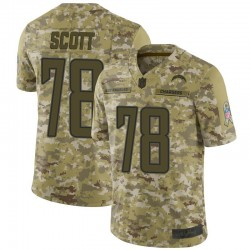 Limited Trent Scott Men's Los Angeles Chargers Camo 2018 Salute to Service Jersey - Nike