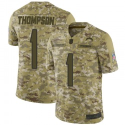 Limited Trevion Thompson Men's Los Angeles Chargers Camo 2018 Salute to Service Jersey - Nike