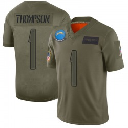 Limited Trevion Thompson Men's Los Angeles Chargers Camo 2019 Salute to Service Jersey - Nike