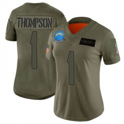 Limited Trevion Thompson Women's Los Angeles Chargers Camo 2019 Salute to Service Jersey - Nike