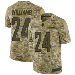 Limited Trevor Williams Youth Los Angeles Chargers Camo 2018 Salute to Service Jersey - Nike