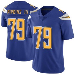 Limited Trey Pipkins Youth Los Angeles Chargers Royal Color Rush Vapor Untouchable Jersey - Nike