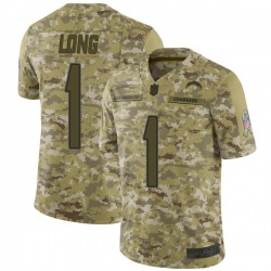 Limited Ty Long Youth Los Angeles Chargers Camo 2018 Salute to Service Jersey - Nike
