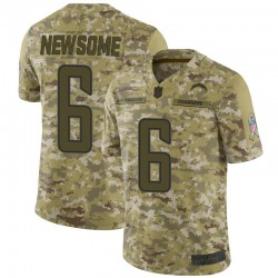 Limited Tyler Newsome Men's Los Angeles Chargers Camo 2018 Salute to Service Jersey - Nike