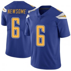 Limited Tyler Newsome Men's Los Angeles Chargers Royal Color Rush Vapor Untouchable Jersey - Nike
