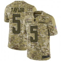 Limited Tyrod Taylor Men's Los Angeles Chargers Camo 2018 Salute to Service Jersey - Nike