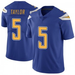 Limited Tyrod Taylor Men's Los Angeles Chargers Royal Color Rush Vapor Untouchable Jersey - Nike