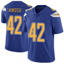 Limited Uchenna Nwosu Men's Los Angeles Chargers Royal Color Rush Vapor Untouchable Jersey