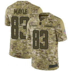 Limited Vince Mayle Men's Los Angeles Chargers Camo 2018 Salute to Service Jersey - Nike