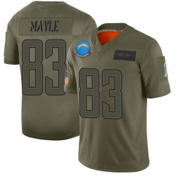 Limited Vince Mayle Youth Los Angeles Chargers Camo 2019 Salute to Service Jersey - Nike