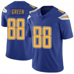 Limited Virgil Green Men's Los Angeles Chargers Royal Color Rush Vapor Untouchable Jersey - Nike