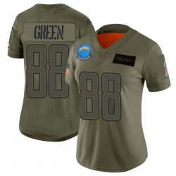 Limited Virgil Green Women's Los Angeles Chargers Camo 2019 Salute to Service Jersey - Nike
