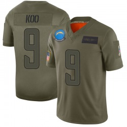 Limited Younghoe Koo Men's Los Angeles Chargers Camo 2019 Salute to Service Jersey - Nike