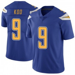 Limited Younghoe Koo Men's Los Angeles Chargers Royal Color Rush Vapor Untouchable Jersey - Nike