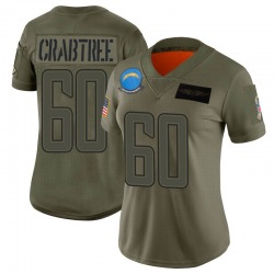 Limited Zachary Crabtree Women's Los Angeles Chargers Camo 2019 Salute to Service Jersey - Nike