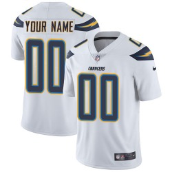 Los Angeles Chargers Customized Men's Limited White ized Jersey - Nike
