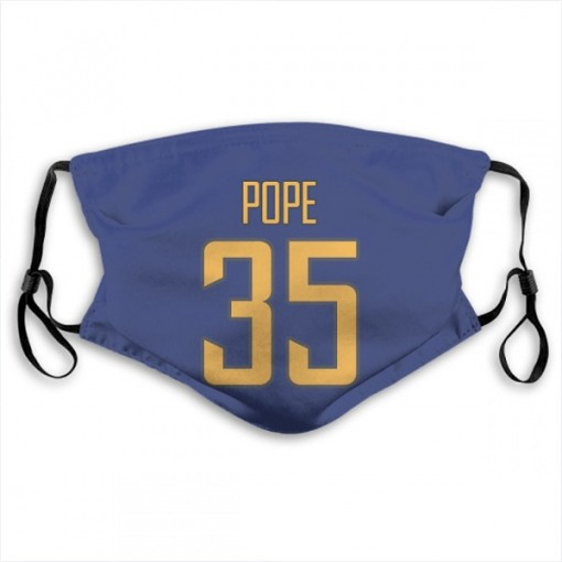 Troymaine Pope Los Angeles Chargers Royal Jersey Number & Name Face Mask