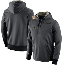 Men's Los Angeles Chargers Anthracite Salute to Service Player Performance Hoodie - Nike