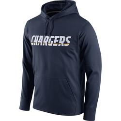 Men's Los Angeles Chargers Navy Circuit Wordmark Essential Performance Pullover Hoodie - Nike